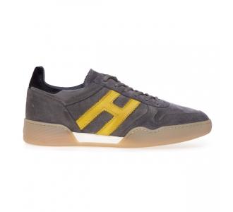 Sneaker Hogan H357 in camoscio Grigio
