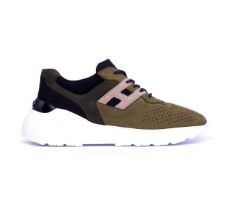 Sneaker hogan active one in nabuck  Verde