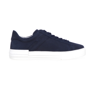 Sneaker Hogan Rebel in nabuk Blu