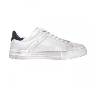 Sneaker Hogan H526 in pelle effetto vintage Bianco