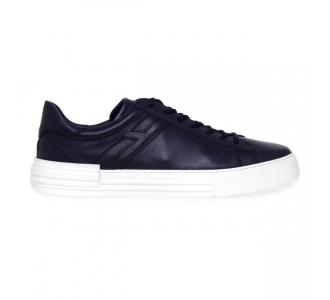 Sneaker Hogan H526 in morbida nappa  BLU Blu