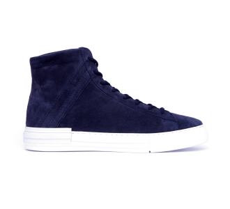 Sneaker alta hogan h526 rebel in camoscio Blu