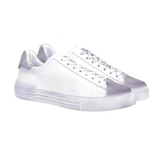 Sneaker hogan h526 rebel in pelle e camoscio invecchiato Bianco