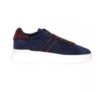 Sneaker Hogan H580 in camoscio Blu - Caramello