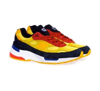 Sneaker new balance 992 in camoscio e tessuto Giallo