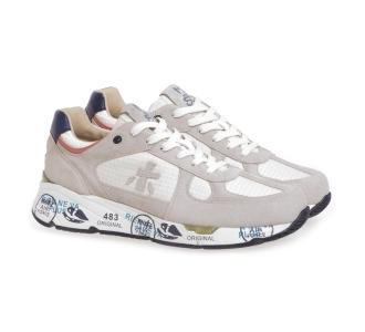 Sneaker Premiata Mase in camoscio e tessuto Beige