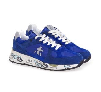 Sneaker Premiata Mase in camoscio e tessuto Bluette