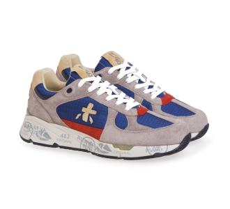 Sneaker Premiata Mase in camoscio e tessuto Beige - Blu