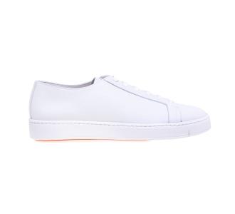 Sneaker Santoni in pelle bottalata  Bianco