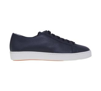 Sneaker Santoni in pelle bottalata Blu