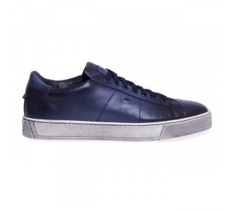 Sneaker Santoni 'Gloria' in pelle tamponata  Blu