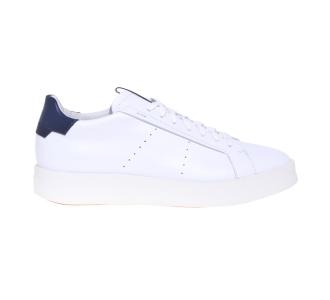 """Sneaker Santoni """"Wide"""" in pelle  Bianco"""