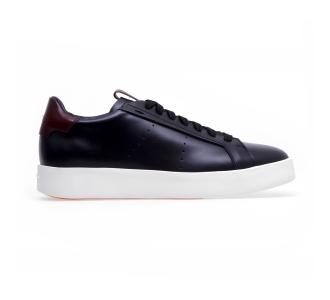 """Sneaker santoni """"wide"""" in pelle  Nero"""