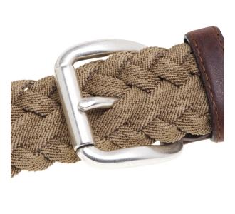 Cintura Minoronzoni in tessuto intrecciato ed elasticizzato Beige