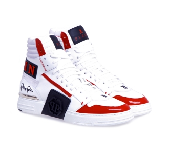 Sneaker philipp plein phantom kick$ hi top Bianco