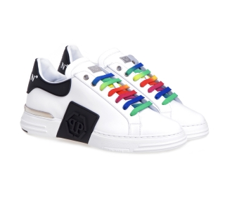Sneaker Philipp Plein Phantom kic$ in pelle  Bianco