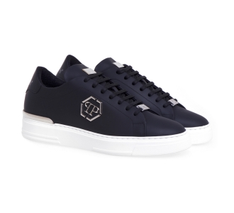 Sneaker Philipp Plein Low Top Exagon in pelle  Nero