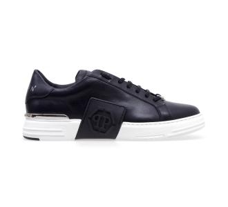 Philipp plein phantom kick$ lo-top leather hexagon Nero