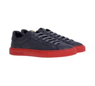 Sneaker hide & jack in pelle stampa cocco Grigio