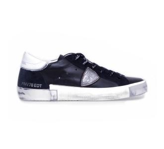 """Sneaker philippe model """"paris x"""" in pelle  Nero"""
