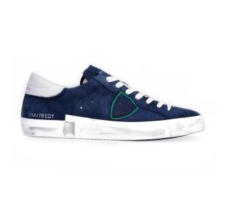 "Sneaker philippe model ""paris x"" in nabuck Blu"