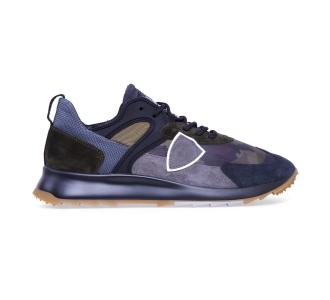 """Sneaker philippe model """"royale"""" in camoscio e tessuto Camuflage"""