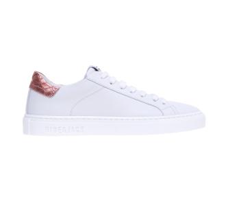 Sneaker Hide & Jack in pelle con talloncino in cocco laminato  Bianco