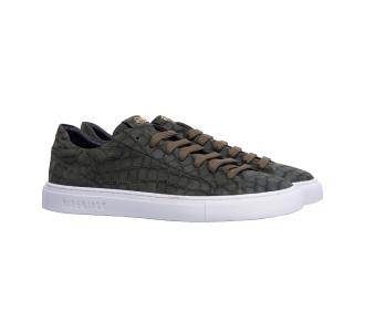 Sneaker hide & jack in pelle ingrassata stampa cocco  Verde