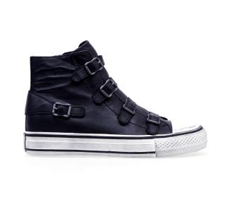 Sneaker ash in pelle con cinturini  Nero