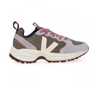 Sneaker Veja Venturi in camoscio  Kaki