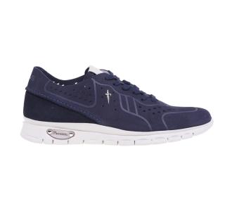 Sneaker Paciotti 4US in nabuck forato Blu