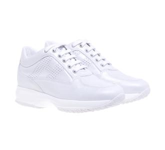 Sneaker Hogan Interactive in pelle perlata  Bianco