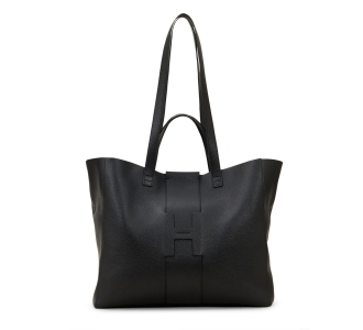 Shopping hogan in pelle martellata  Nero