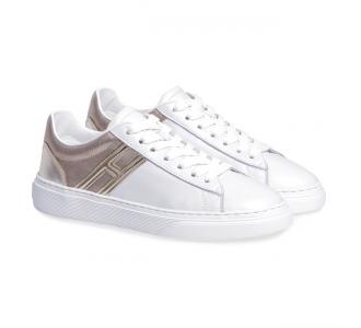 Sneaker Hogan H365 in pelle perlata Grigio