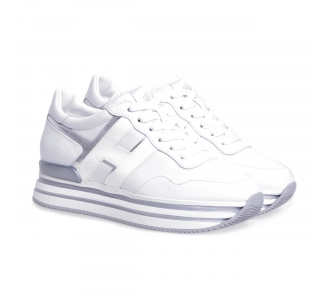 Sneaker Hogan H222 Midi in pelle  Bianco