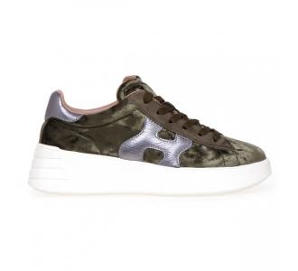 Sneaker Hogan H562 Rebel in velluto  Verde