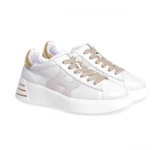 Sneaker Hogan Rebel in pelle  Panna