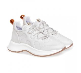 Sneaker Hogan H585 in nappa  Panna