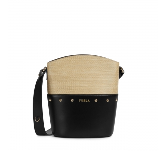 Furla Share mini buchet bag Deserto + Nero