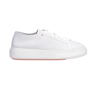 """Sneaker Santoni """"Cleanic"""" in pelle  Bianco"""