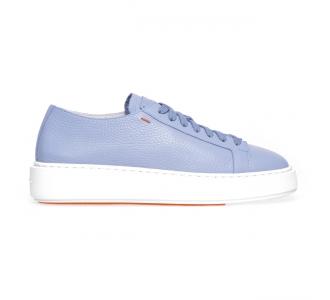"""Sneaker Santoni """"Cleanic"""" in pelle  Carta Zucch."""