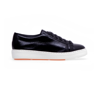 Sneaker santoni cleanicon in naplack Nero