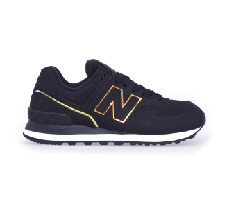 Sneaker new balance 574 in nabuck  Nero