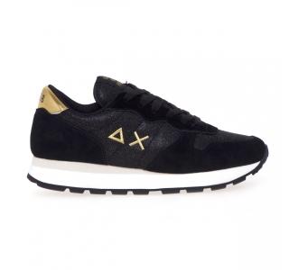 Sneaker Sun68 Ally Thin Glitter  Nero