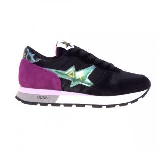 Sneaker Sun68 Starlight Satin  Nero