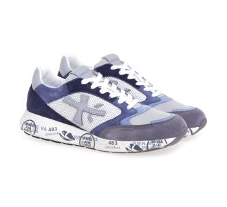 Sneaker Premiata Zac Zac in camocio e tessuto Grigio - Avio