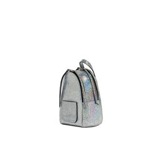 ZAINO GIANNI CHIARINI IN PELLE EFFETTO GLITTER  Silver